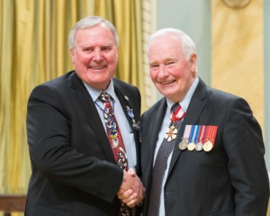 Bob & Governor General David Johnson